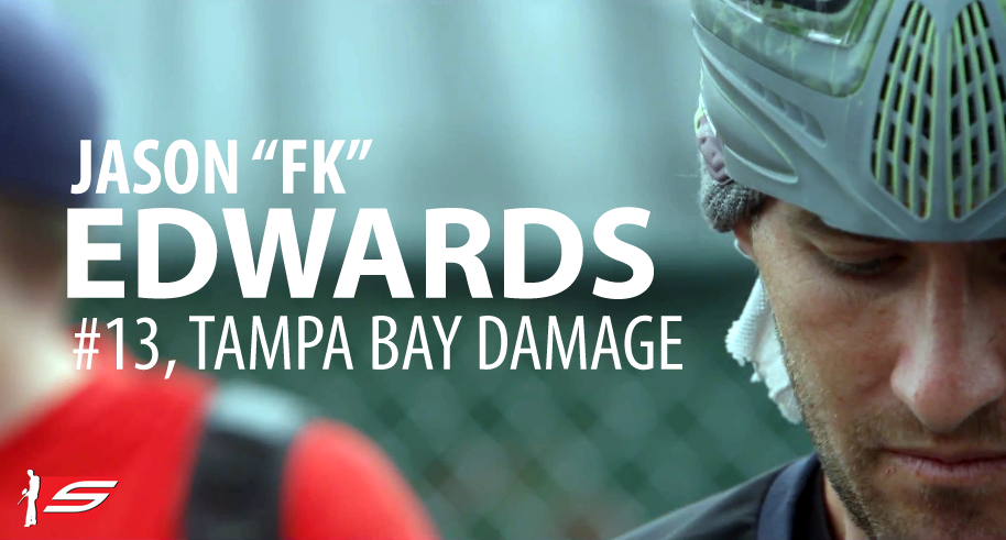 Jason &quot;FK&quot; Edwards, #13, Tampa Bay Damage, Pro Paintball Player