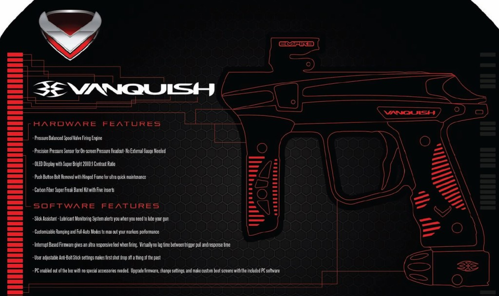 empire vanquish features