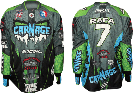 carnage custom paintball jersey gallery