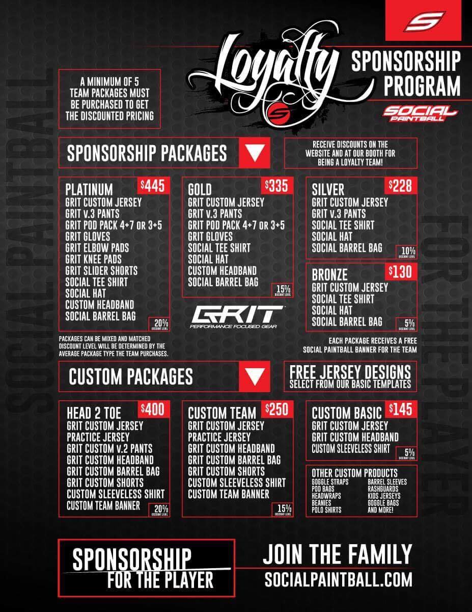 Social Paintball Grit Loyalty Team Packages