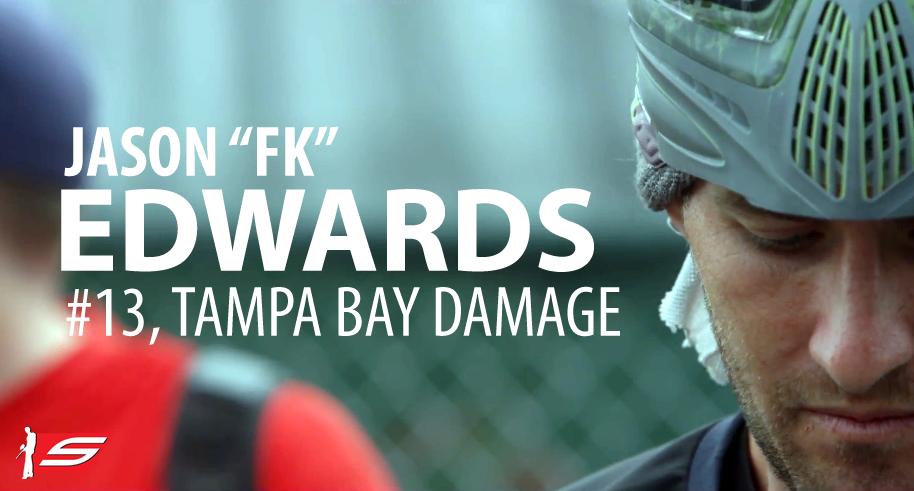 "Jason ""FK"" Edwards, #13, Tampa Bay Damage, Pro Paintball Player"