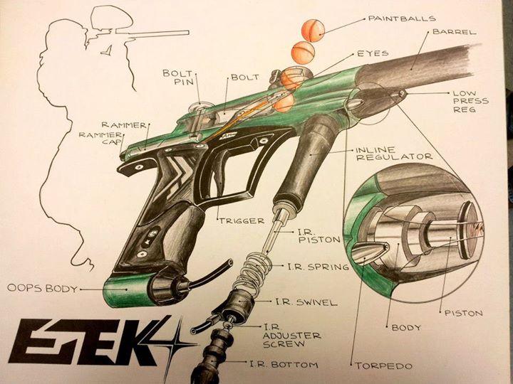 paintball gun art